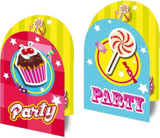 Have a Sweet Birthday Uitnodigingen, 8st. in Sint Maartensvlotbrug