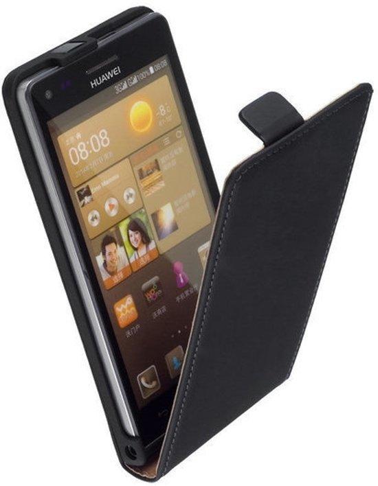 Huawei p8 lite leder flip case hoesje zwart for Huawei p8 te koop