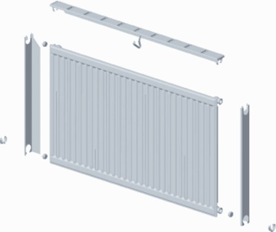 Haceka Designradiator Gobi Wit (1110mm x 590mm) in De Sluis