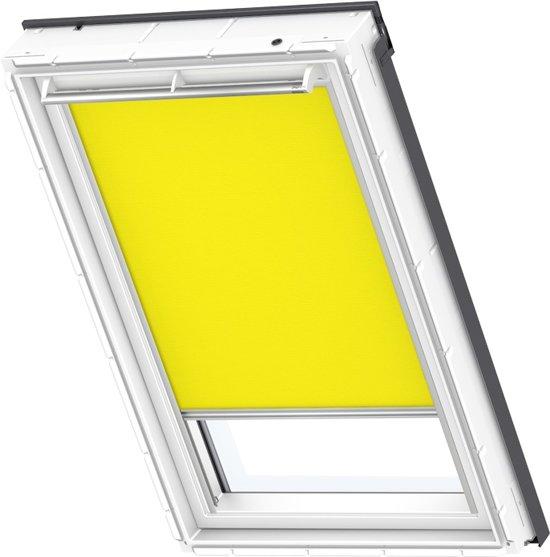 velux lichtdoorlatend rolgordijn fel geel elektrisch op netstroom. Black Bedroom Furniture Sets. Home Design Ideas