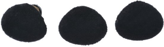 NBH® - 5X Zwart pluizige hobby neusjes ca 12mm x 15mm x 18mm in Thieulain