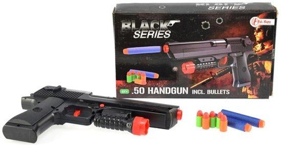 Handgeweer foam kogels Black series incl in Vierakker