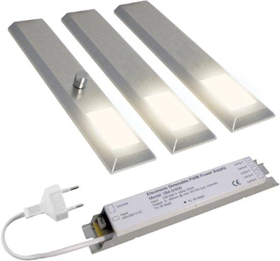 ... Lavanto® Milano LED spot set 3 stuks. Warm wit. RVS. Dimbaar  Wonen
