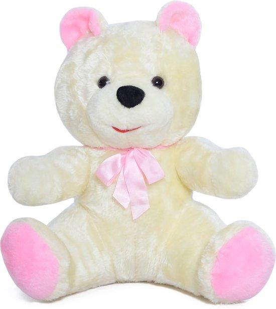 Grote knuffelbeer - Teddybeer - wit - 100 cm in Bommershoven (Haren)