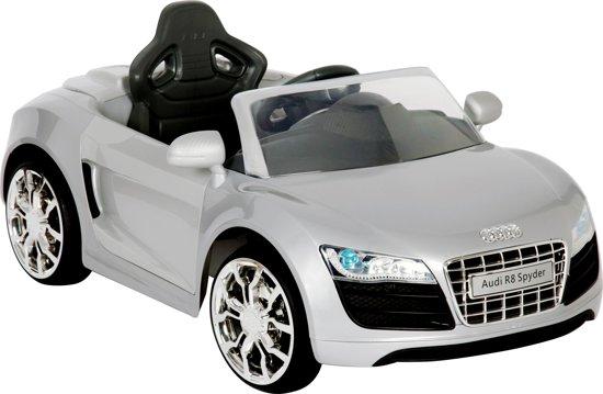 Accu voertuig Audi R8 - MP3 - Radio - Afstandsbediening - Grijs in Sneek / Snits