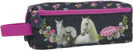 Animal Pictures I Love Paarden - Etui - 20 cm - Blauw in Lot
