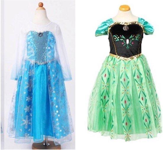 Frozen Elsa + Anna jurk maat 128/134 in Waarland