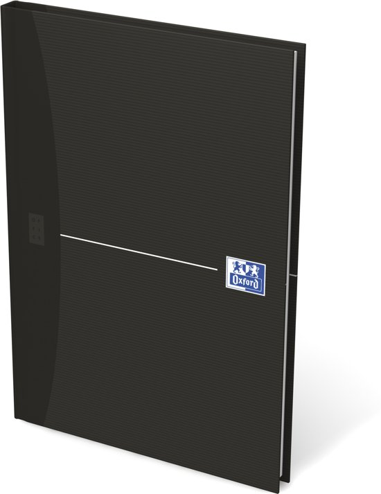 Oxford OFFICE Essentials gebonden boek 192 bladzijden gelijnd formaat A5 smart black