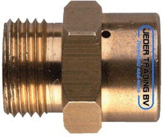 Kemper Zuurstof Cilinder Verloop Adapter M10x1(F) - M12x1(M) 588B in Genne