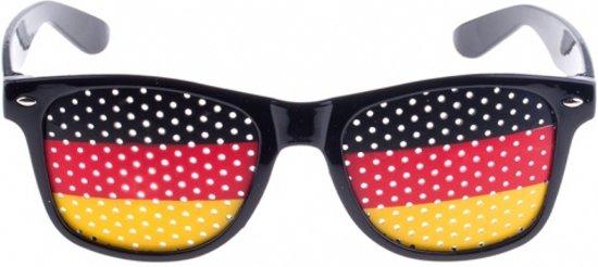 Zwarte Duitsland bril in Ezemaal