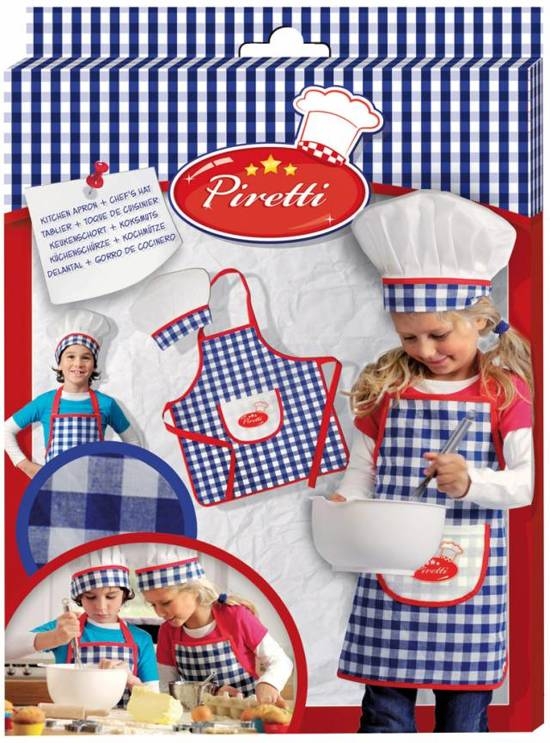 Keukenspullen Kind : bol.com Ses Piretti Keukenschort en Muts,Ses Speelgoed