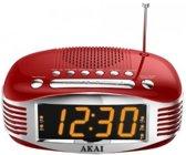Akai AR400 - Wekkerradio - Rood