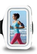 Azuri sport armband universeel smartphone voor Apple, Samsung, LG, HTC, Nokia, Huawei en Acer- maat large - wit