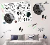 Star Wars muurstickers: Star Wars Space Battle stickers (100 x 70 cm)