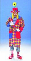Geruite clown jas voor volwassenen 50-52 (m/l)