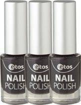 Etos Nailpolish 025 - Berry - Paars - 3 stuks - Nagellak