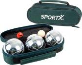 SportX Jeu de Boules Set met Tas