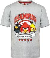 Angry Birds T-shirt Champion Grijs-Maat: 104/110