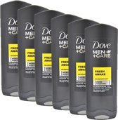 Dove Men+Care Fresh Awake - 250 ml - Douche Gel - 6 stuks - Voordeelverpakking