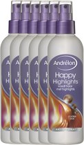 Andrélon happy highlights  - 250ml - anti-klit spray - 6 st - voordeelverpakking