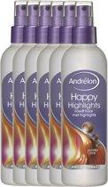 Andrélon happy highlights  - 250ml - anti-klit spray - 6 st - voordeelverpakking