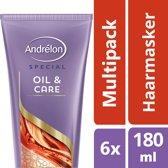 Andrélon oil & care  - 180 ml - 1-minuut masker - 6 st - voordeelverpakking