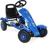 Go Kart Skelter Trapauto blauw 401031