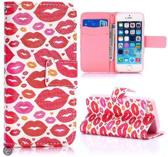 Rode Lippen Bookcase Hoesje iPhone 5 / 5S