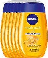 NIVEA Natural Oil - 200 ml - Douche-Olie - 6 st - Voordeelverpakking