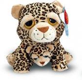 Pluche Cheetah met baby knuffel 25 cm