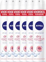 NIVEA Dry Comfort Spray 200ml voordeelpakket 5+1 gratis