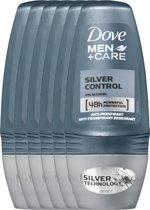 Dove silver control Men + Care - 50 ml - deodorant roller - 6 st - Voordeelverpakking