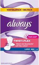 Always Discreet Large Fresh Voordeelpak  - 48 - Inlegkruisjes