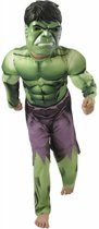 Marvel Avengers Hulk Muscle Chest Maat 110/116 - Verkleedpak