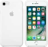 Apple iPhone 7 Silicone Hoes -  Wit