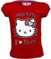 Hello Kitty T-Shirt I love Rock Rood-98 (3 jaar)