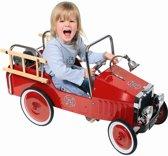 Trapauto: BRANDWEER 95x30,5x54cm, rood, in metaal en kunstst