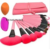 24-delige Professionele Make-up Pink kwasten set