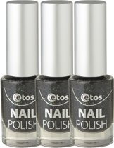 Etos Nailpolish 060 - Holiday - Party - Zwart - 3 stuks - Nagellak