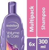 Andrélon volume&care  - 300 ml - shampoo - 6 st - voordeelverpakking