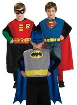 Superhero Trioset Batman, Robin, Superman - Kostuum Kind - Maat 128-140