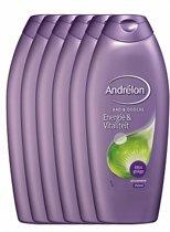 Andrélon energie & vitaliteit  - 750 ml - douche & bad - 6 st - voordeelverpakking