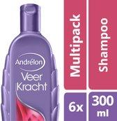 Andrélon veerkracht  - 300 ml - shampoo - 6 st - voordeelverpakking