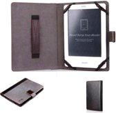 Ereader beschermhoes 6 inch universeel / hoesje / Design cover grijs-zwart