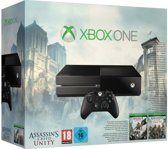 Microsoft Xbox One 500GB Console + 1 Wireless Controller +  Assassin's Creed Unity + Assassin's Creed IV: Black Flag - Zwart Xbox One Bundel