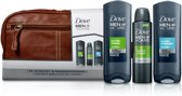 Dove Cadeaupakket - 4-delig - Men+Care Extra Fresh Douche Gel + Deodorant + Clean Comfort Douche Gel + Toilettas