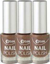 Etos Nailpolish 070 - Chocolate - Duo - Bruin - 3 stuks - Nagellak