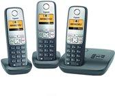 Gigaset A400A - Trio DECT telefoon met antwoordapparaat - Zwart