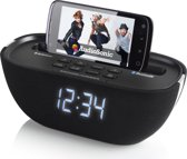 AudioSonic CL-1462 - Wekker radio met docking station - Zwart