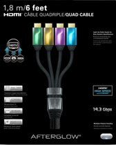 Afterglow HDMI Kabel 4X 1.80m Wii U + Xbox 360 + Xbox One + PS3 + PS4